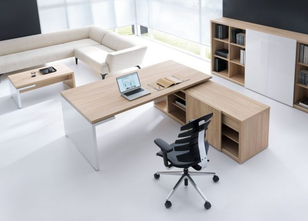Mito Executive Office Desk with Storage